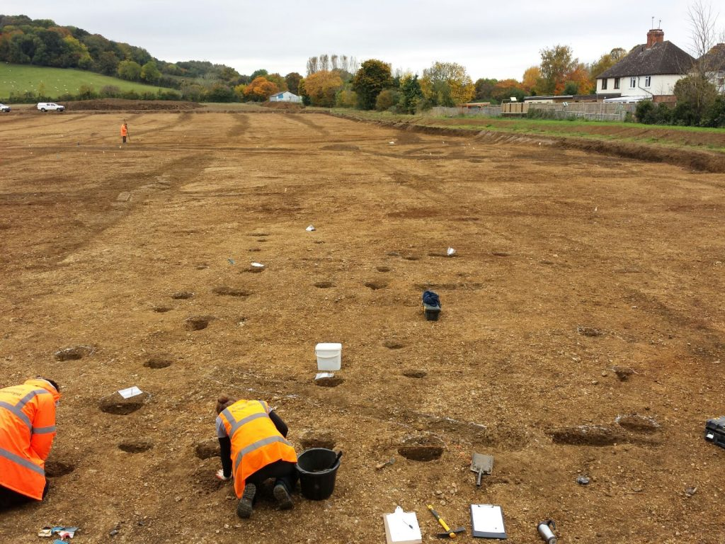 Broadway Archaeological Dig at West End, Broadway, Worcestershire