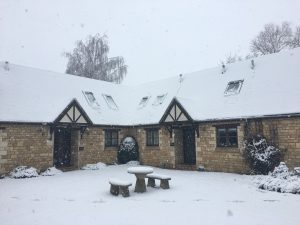 Cotswold holiday cottages in the snow