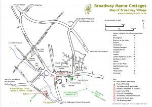 Map of Broadway, Cotswolds