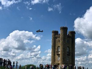Lancaster Bomber Flypast, Broadway Tower