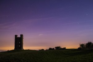 Aurora over Broadway Tower