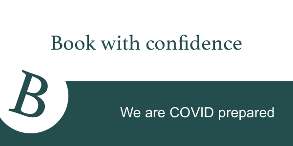 Broadway Manor Cottages Covid prepared Book with Confidence